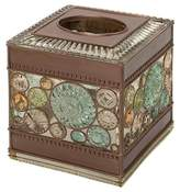 India Ink Boddington Resin Artisan Tissue Box Cover Bronze