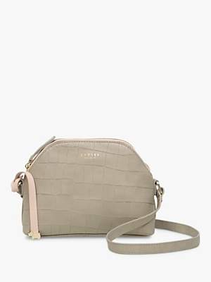 Radley Gallery Road Croc Leather Cross Body Bag, Neutral