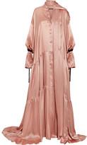 Ann Demeulemeester Oversized Silk-satin Maxi Dress - Pink