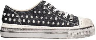 Gienchi J.m. Low Sneakers In Black Glitter