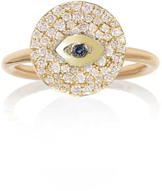 Noush 14ct Yellow Gold Evil Eye Ring