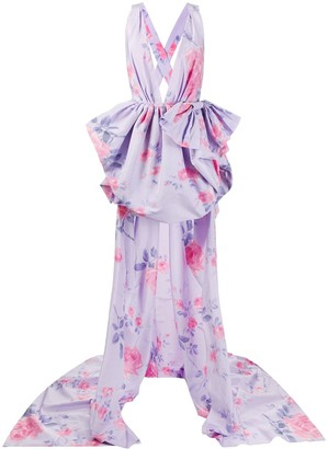 Philosophy di Lorenzo Serafini Asymmetric Length Floral Print Dress