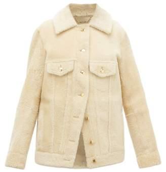 Chloé Cropped Shearling Jacket - Womens - Cream
