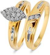 My Trio Rings 7/8 CT. T.W. Diamond Women's Bridal Wedding Ring Set 14K White Gold