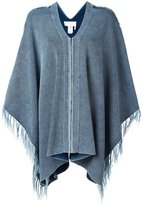 Chloé tassel edge cape - women - Cotton - XS