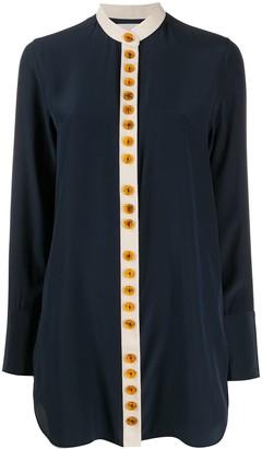 Jil Sander Bold Button-Up Silk Shirt