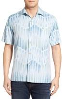 Tommy Bahama 'Chabis Chevron' Original Fit Silk & Cotton Camp Shirt