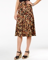 NY Collection Petite Printed A-Line Skirt