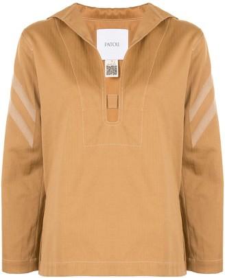 Patou deep V-neck blouse