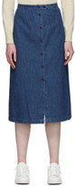 A.P.C. Indigo Denim Deauville Skirt