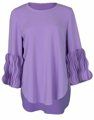 Catherine Regehr Lilac Wave Cuff Pullover Top