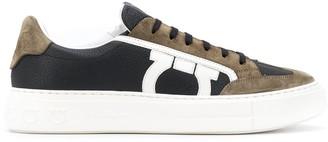 Salvatore Ferragamo Gancini colour block sneakers