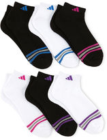 adidas 6-pk. Striped Low-Cut Socks