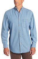 Wrangler Men's Rugged Wear Basic One-Pocket Denim Shirt