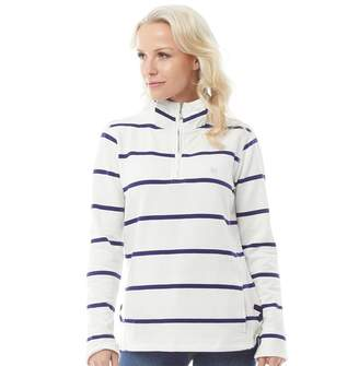 Crew Clothing Womens 1/2 Zip Stripe Sweatshirt Van/Navy