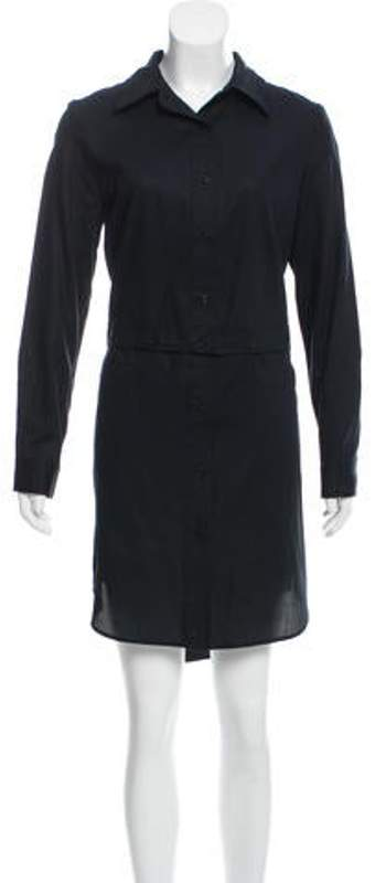 Milly Fractured High-Low Shirtdress w/ Tags Black Fractured High-Low Shirtdress w/ Tags