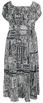 Yours Clothing YoursClothing Plus Size Womens Tribal Print Gypsy Maxi Dress Free Neck Ladies
