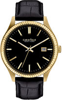 Bulova Caravelle New York by Men's Black Croc-Embossed Leather Strap Watch 41mm 44B106
