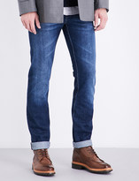 Brunello Cucinelli Faded slim-fit tapered jeans