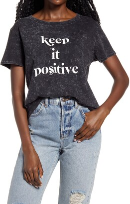 Sub Urban Riot Keep it Positive Mineral Wash Graphic Tee