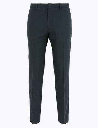 Marks and Spencer Skinny Fit Micro Check Stretch Trousers