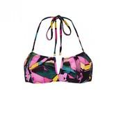 Amethyst Print Melanie Bandeau Bikini Top