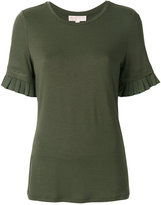MICHAEL Michael Kors pleated sleeves T-shirt - women - Polyester/Spandex/Elastane/Viscose - XS