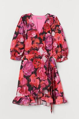 H&M Patterned wrap dress