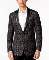 Tallia Men's Slim-Fit Black/White Geo Sport Coat