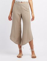 Charlotte Russe Asymetrical Cropped Gaucho Pants