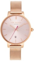 Ted Baker Women's Kate Round Mesh Strap Watch, 38Mm