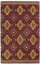 Leon Hand-tufted de Tribal Red Rug (3'6 x 5'6)