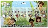 Tinkerbell 21pk Disney Fairies Days of the Week Earrings & Rings Set For Girls