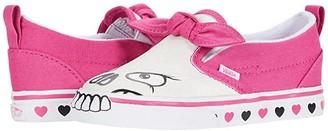 Vans Kids Skull Slip-On V (Infant/Toddler) (Skull/Fuchsia Purple) Girls Shoes