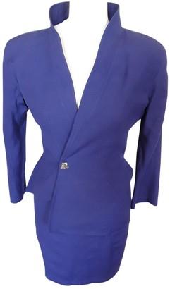 Thierry Mugler Purple Viscose Jackets