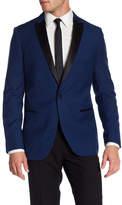 Paisley & Gray Navy Solid Two Button Peak Lapel Slim Fit Tuxedo Jacket