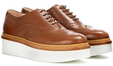 Tod's Leather platform Oxford shoes