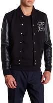 The Kooples Teddy Boy Leather Varsity Jacket