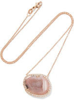 Kimberly McDonald - 18-karat Rose Gold, Geode And Diamond Necklace - one size