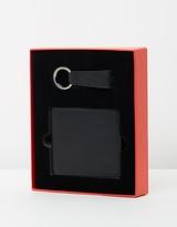 HUGO Leather Wallet & Key Ring