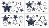 JoJo Designs White and Navy Hotel Baby and Kids Wall Decal Stickers by Sweet Set of 4 Sheets