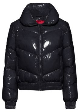 HUGO BOSS Glossy quilted jacket with recycled padding