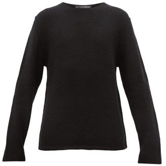 Denis Colomb Ribbed-sleeve Cashmere Sweater - Black