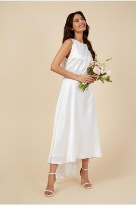 Little Mistress Orelia Ivory Hi Low Maxi Dress