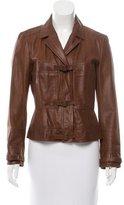 John Galliano Notch-Lapel Leather Jacket