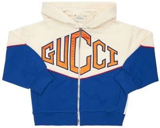 Gucci Cotton Sweatshirt W/ Logo Embroidered