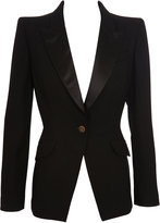 Thumbnail for your product : Alexander McQueen Satin And Wool Tuxedo Jacket