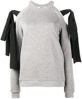 MSGM cold shoulder sweatshirt