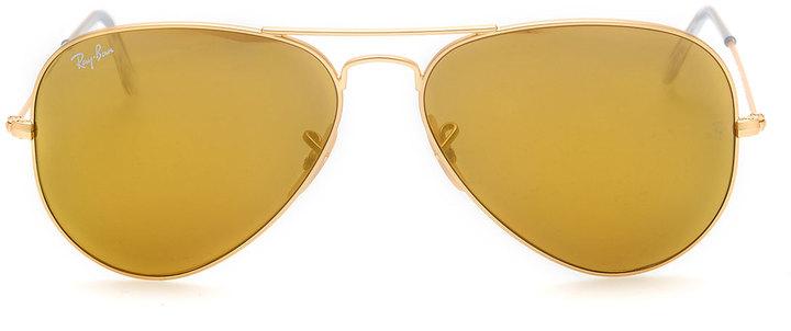 Ray-Ban Aviator Mirrored Sunglasses, Brown
