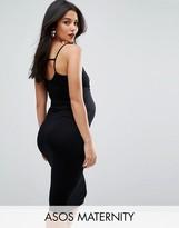 Asos Strappy Back Midi Bodycon Dress